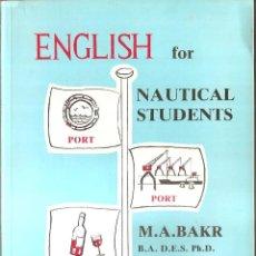 Antiguidades: ENGLISH FOR NAUTICAL STUDENT, INGLES, EL INGLES USADO EN LOS BARCOS,FOTOS.DIBUJOS ETC,. Lote 49967840