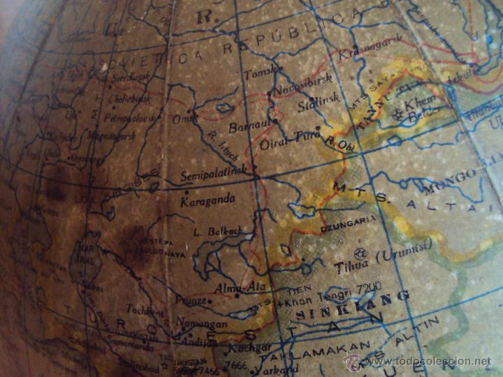 Antigüedades: (GL-01)GLOBO TERRESTRE PALUZIE, ANTONIO SANTAMANS, IMPRENTA ELZEVIRIANA Y LIBRERIA CAMI,AÑOS 20S - Foto 5 - 49975113