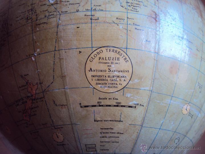 Antigüedades: (GL-01)GLOBO TERRESTRE PALUZIE, ANTONIO SANTAMANS, IMPRENTA ELZEVIRIANA Y LIBRERIA CAMI,AÑOS 20S - Foto 14 - 49975113