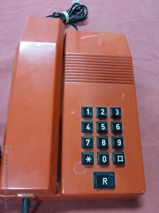 TELEFONO TEIDE COLOR ROJO DE SOBREMESA - TELEFONO ROJO VINTAGE - TELEFÓNO DE TECLAS, FUNCIONA (Antigüedades - Técnicas - Teléfonos Antiguos)