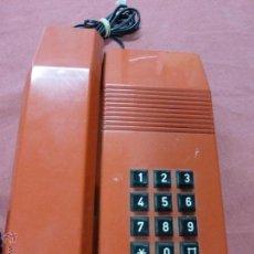 Teléfonos: TELEFONO TEIDE COLOR ROJO DE SOBREMESA - TELEFONO ROJO VINTAGE - TELEFÓNO DE TECLAS, FUNCIONA. Lote 64351122