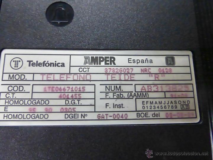 Teléfonos: TELEFONO TEIDE COLOR ROJO DE SOBREMESA - TELEFONO ROJO VINTAGE - TELEFÓNO DE TECLAS, FUNCIONA - Foto 4 - 64351122