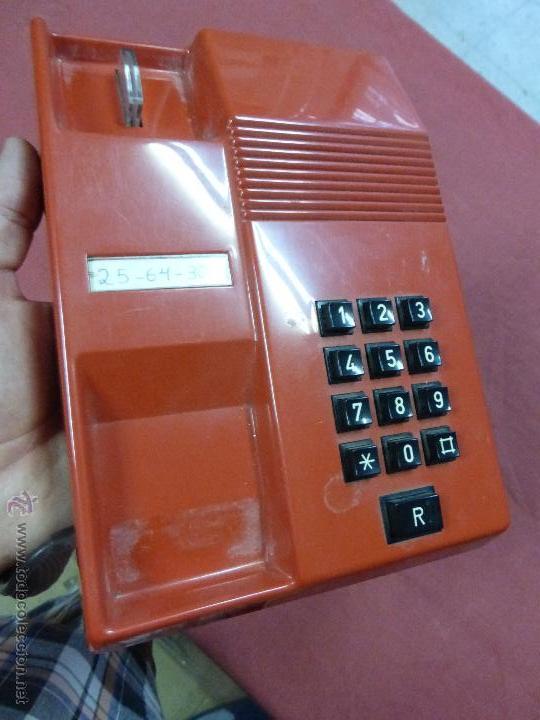 Teléfonos: TELEFONO TEIDE COLOR ROJO DE SOBREMESA - TELEFONO ROJO VINTAGE - TELEFÓNO DE TECLAS, FUNCIONA - Foto 5 - 64351122