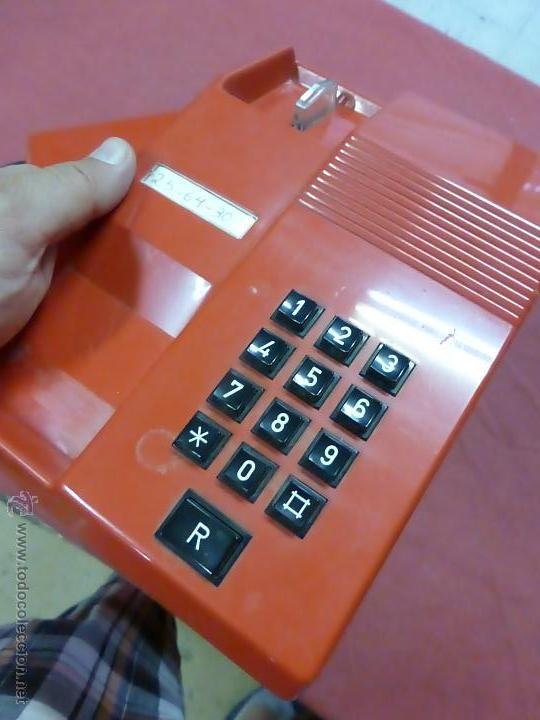 Teléfonos: TELEFONO TEIDE COLOR ROJO DE SOBREMESA - TELEFONO ROJO VINTAGE - TELEFÓNO DE TECLAS, FUNCIONA - Foto 6 - 64351122