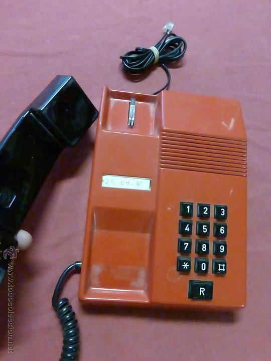 Teléfonos: TELEFONO TEIDE COLOR ROJO DE SOBREMESA - TELEFONO ROJO VINTAGE - TELEFÓNO DE TECLAS, FUNCIONA - Foto 7 - 64351122