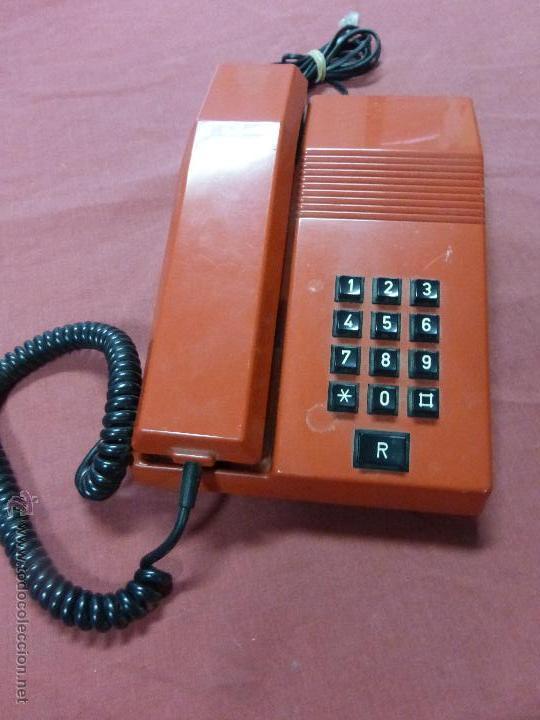 Teléfonos: TELEFONO TEIDE COLOR ROJO DE SOBREMESA - TELEFONO ROJO VINTAGE - TELEFÓNO DE TECLAS, FUNCIONA - Foto 8 - 64351122