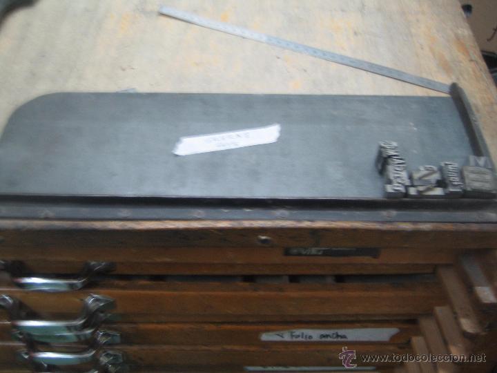 IMPRENTA, GALERA METALICA PARA MOLDES DE IMPRENTA - MODELO 8 (Antigüedades - Técnicas - Herramientas Profesionales - Imprenta)