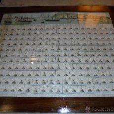 Antigüedades: (M) NAVEGACION S.XIX ANTIGUO PLANO DE SEÑALES PARA EL TELEGRAFO DE MONJUICH APROBADO POR REAL . Lote 50091362