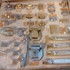 Antigüedades: MUESTRARIO DE CIERRES, MARROQUINERIA. Lote 50109556