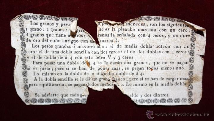 Antigüedades: BALANZA DE PRECISIÓN PARA PESAR MONEDA DE ORO DEL SIGLO XVIII-XIX - Foto 7 - 50144174