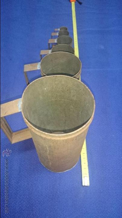 Antigüedades: CAZOS DE MEDICION PARA LIQUIDOS GRABADO J.PINTOR MADRID - Foto 2 - 50154713
