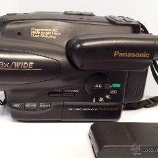 Antigüedades: CÁMARA PANASONIC - VHS-C MOVIE NV-S20 - 1LUX - CARGADOR DE BATERÍA Y FUNDA. Lote 50193020