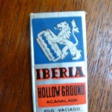 Antigüedades: F 2441 HOJA DE AFEITAR IBERIA HOLLOW GROUND ACANALADA - BASSAT SA. BARCELONA - NUEVA. Lote 50193953