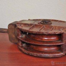 Antigüedades: RARA POLEA DE BAQUELITA - PASTECA - ROLDANA - BARCO - AÑOS 30-40 - GRAN TAMAÑO. Lote 50205421