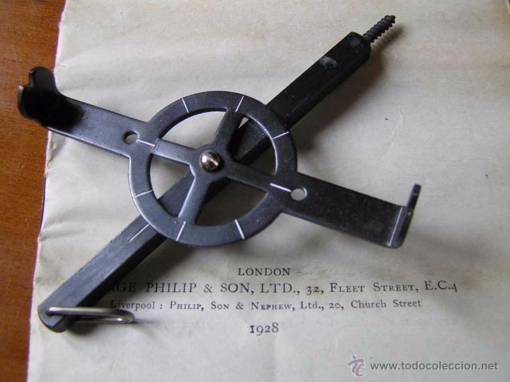 Antigüedades: ANTIGUO MEDIDOR DE AGRIMENSOR TOPÓGRAFO PHILIPS POCKET SURVEYOR 1928 TOPOGRAFIA PHILIPS - Foto 5 - 50218626