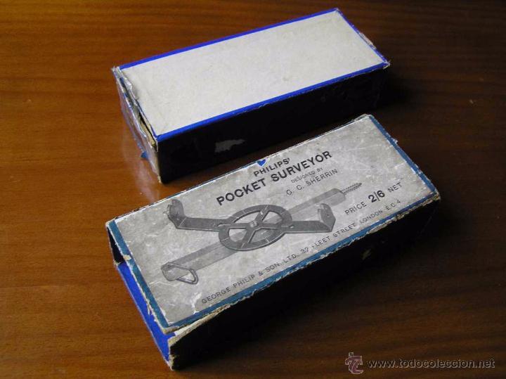 Antigüedades: ANTIGUO MEDIDOR DE AGRIMENSOR TOPÓGRAFO PHILIPS POCKET SURVEYOR 1928 TOPOGRAFIA PHILIPS - Foto 17 - 50218626