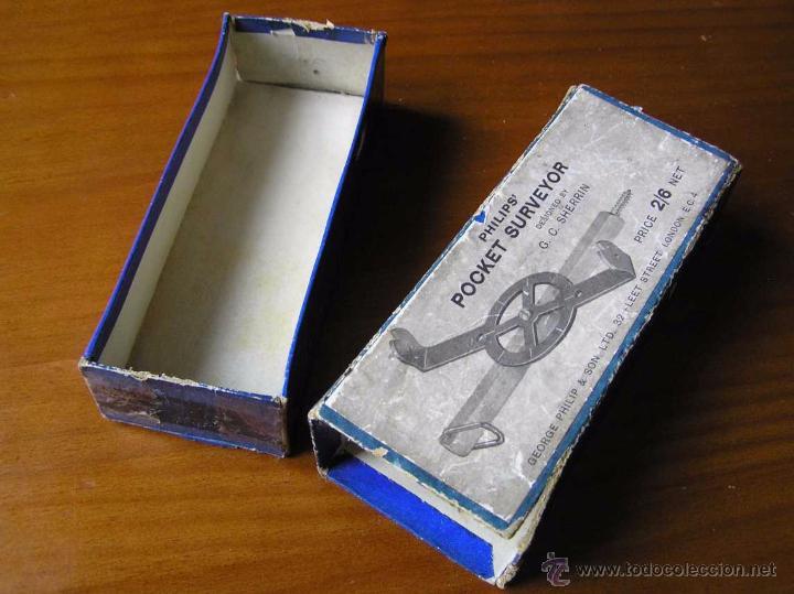 Antigüedades: ANTIGUO MEDIDOR DE AGRIMENSOR TOPÓGRAFO PHILIPS POCKET SURVEYOR 1928 TOPOGRAFIA PHILIPS - Foto 19 - 50218626