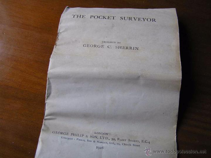 Antigüedades: ANTIGUO MEDIDOR DE AGRIMENSOR TOPÓGRAFO PHILIPS POCKET SURVEYOR 1928 TOPOGRAFIA PHILIPS - Foto 22 - 50218626