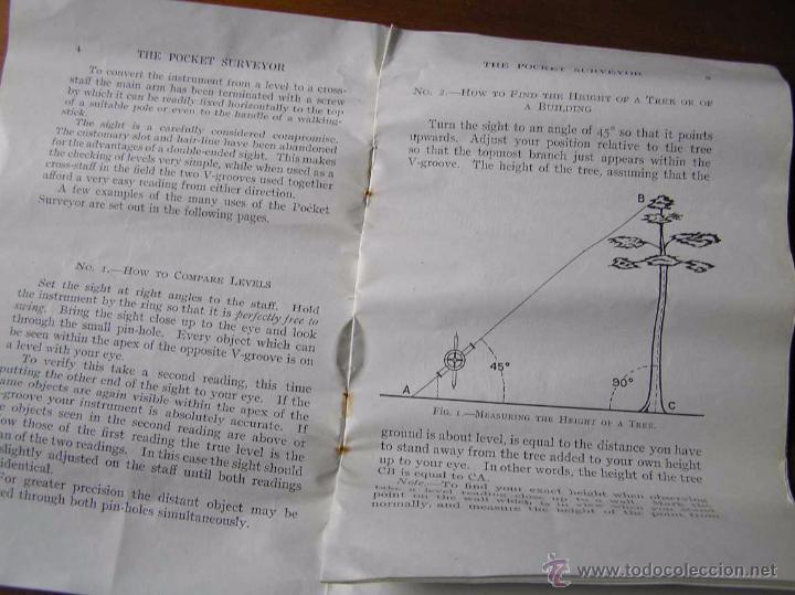 Antigüedades: ANTIGUO MEDIDOR DE AGRIMENSOR TOPÓGRAFO PHILIPS POCKET SURVEYOR 1928 TOPOGRAFIA PHILIPS - Foto 26 - 50218626