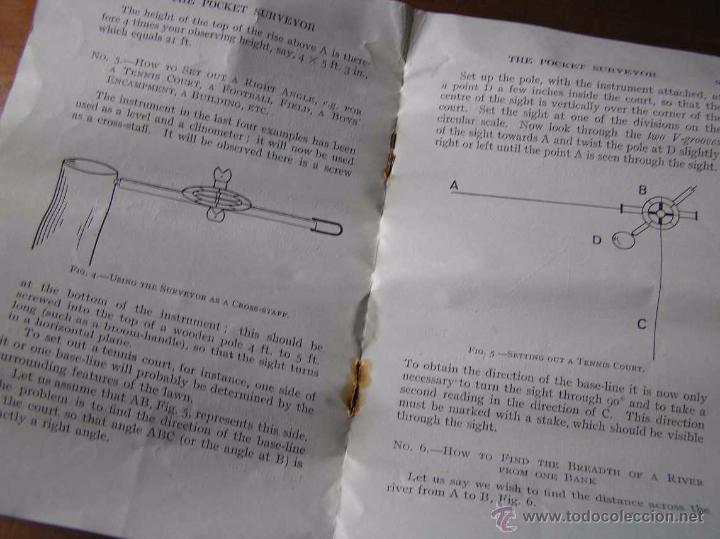 Antigüedades: ANTIGUO MEDIDOR DE AGRIMENSOR TOPÓGRAFO PHILIPS POCKET SURVEYOR 1928 TOPOGRAFIA PHILIPS - Foto 28 - 50218626