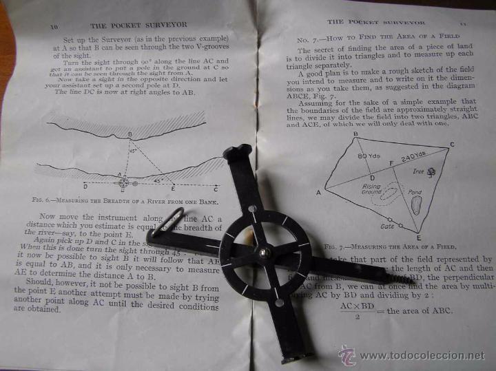 Antigüedades: ANTIGUO MEDIDOR DE AGRIMENSOR TOPÓGRAFO PHILIPS POCKET SURVEYOR 1928 TOPOGRAFIA PHILIPS - Foto 29 - 50218626