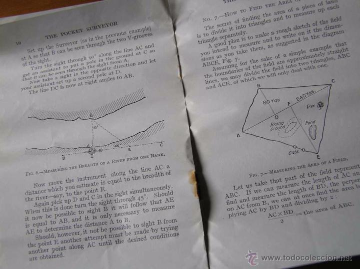 Antigüedades: ANTIGUO MEDIDOR DE AGRIMENSOR TOPÓGRAFO PHILIPS POCKET SURVEYOR 1928 TOPOGRAFIA PHILIPS - Foto 30 - 50218626