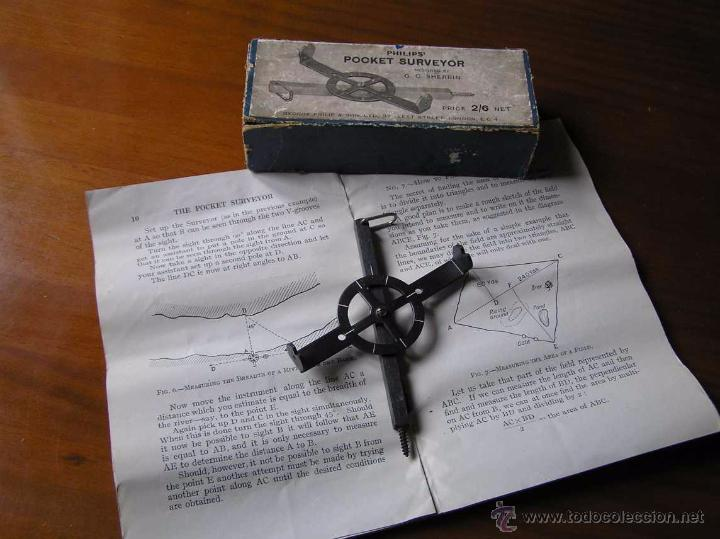 Antigüedades: ANTIGUO MEDIDOR DE AGRIMENSOR TOPÓGRAFO PHILIPS POCKET SURVEYOR 1928 TOPOGRAFIA PHILIPS - Foto 33 - 50218626