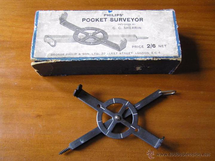 Antigüedades: ANTIGUO MEDIDOR DE AGRIMENSOR TOPÓGRAFO PHILIPS POCKET SURVEYOR 1928 TOPOGRAFIA PHILIPS - Foto 39 - 50218626