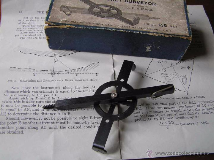 Antigüedades: ANTIGUO MEDIDOR DE AGRIMENSOR TOPÓGRAFO PHILIPS POCKET SURVEYOR 1928 TOPOGRAFIA PHILIPS - Foto 42 - 50218626