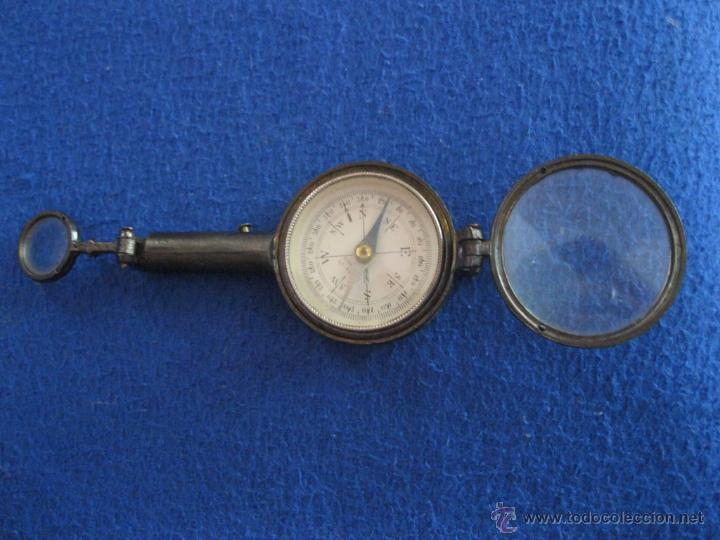 Antigüedades: Brújula con tres lupas y espejo de principios del siglo XX. - Foto 4 - 50332729