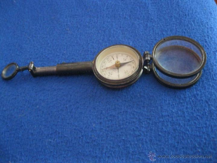 Antigüedades: Brújula con tres lupas y espejo de principios del siglo XX. - Foto 5 - 50332729