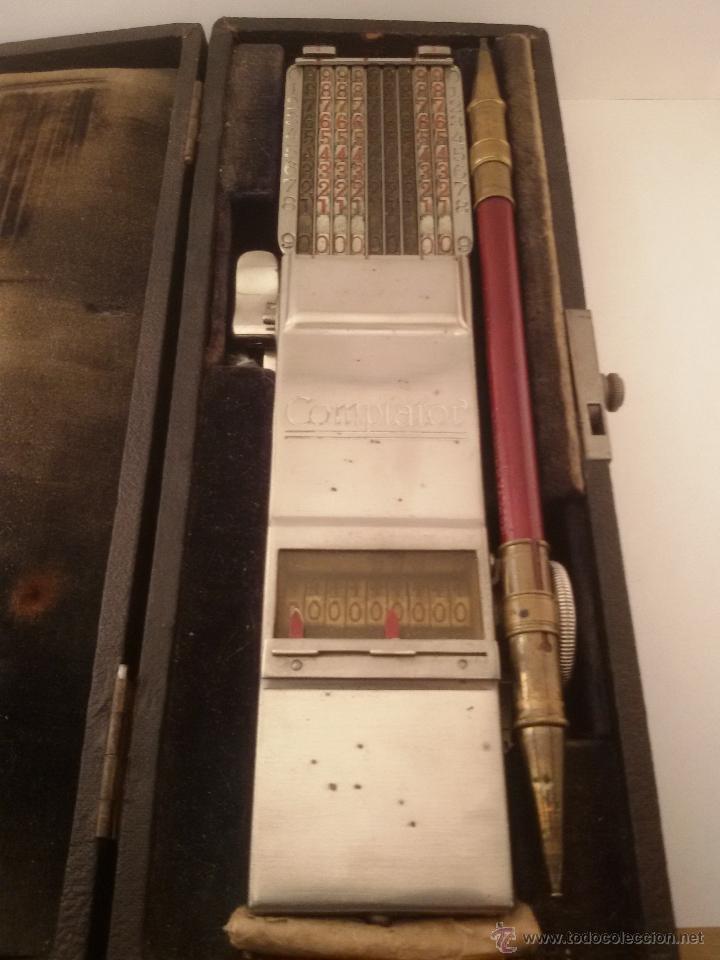 ANTIGUA CALCULADORA SUMADORA MARCA COMPTATOR ALEMANA (Antigüedades - Técnicas - Aparatos de Cálculo - Calculadoras Antiguas)