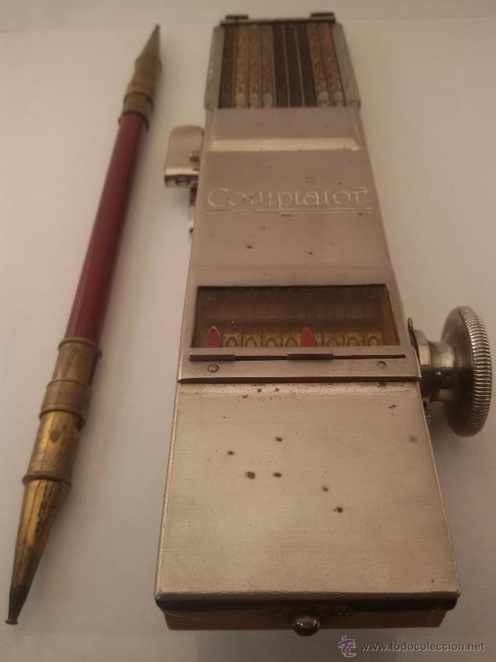 Antigüedades: ANTIGUA CALCULADORA SUMADORA MARCA COMPTATOR ALEMANA - Foto 5 - 50335254