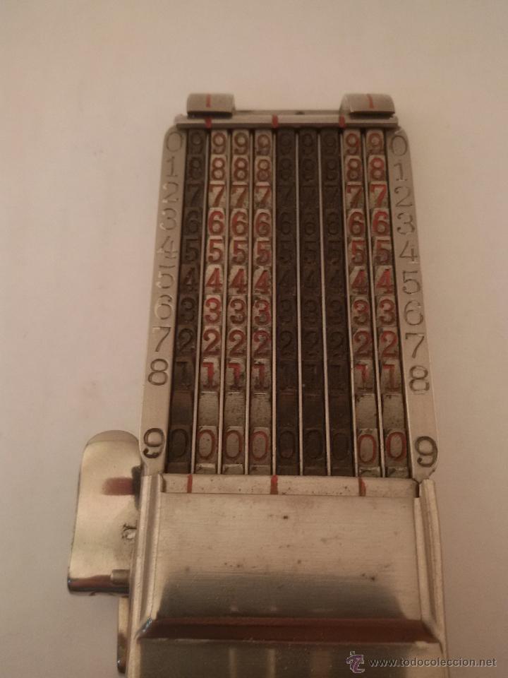 Antigüedades: ANTIGUA CALCULADORA SUMADORA MARCA COMPTATOR ALEMANA - Foto 6 - 50335254