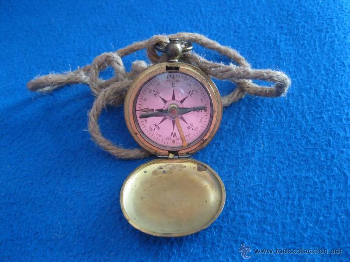 Antigüedades: Antigua brújula de bolsillo americana de mediados del siglo XX. - Foto 3 - 50350273