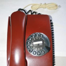 Teléfonos: RETRO VINTAGE TELEFONO SIEMENS DECORADO EN GRANATE AÑOS 70, LIMPIO Y ADAPTADO, FUNCIONANDO. Lote 50362849