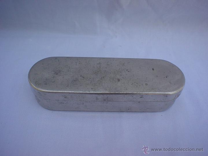 Antigüedades: JERINGUILLA CRISTAL ICO - CLARA CON AGUJAS EN CAJA METÁLICA - JERINGA - Foto 10 - 69579831