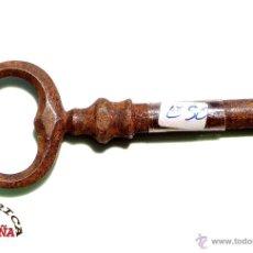 Antigüedades: LLAVE DE FORJA MUY BUEN ESTADO DE CONSERVACIÓN 8,5 CM. Lote 50395095