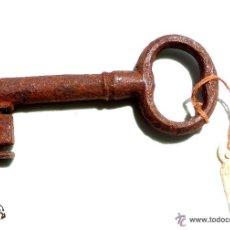 Antigüedades: LLAVE DE FORJA MUY BUEN ESTADO DE CONSERVACIÓN 9,5 CM. Lote 50395228