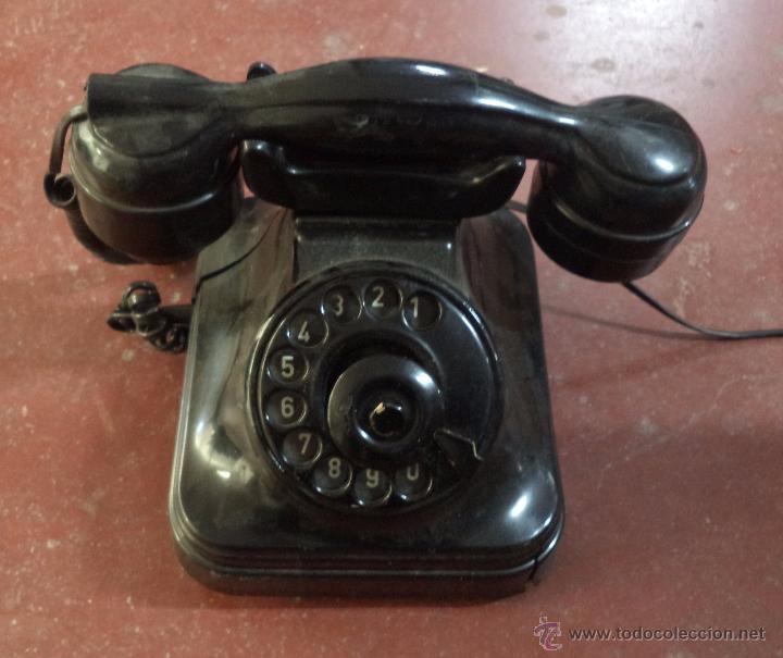TELÉFONO ANTIGUO DE SOBREMESA,BAQUELITA,ORIGINAL,DESCONOCEMOS SI FUNCIONA (Antigüedades - Técnicas - Teléfonos Antiguos)