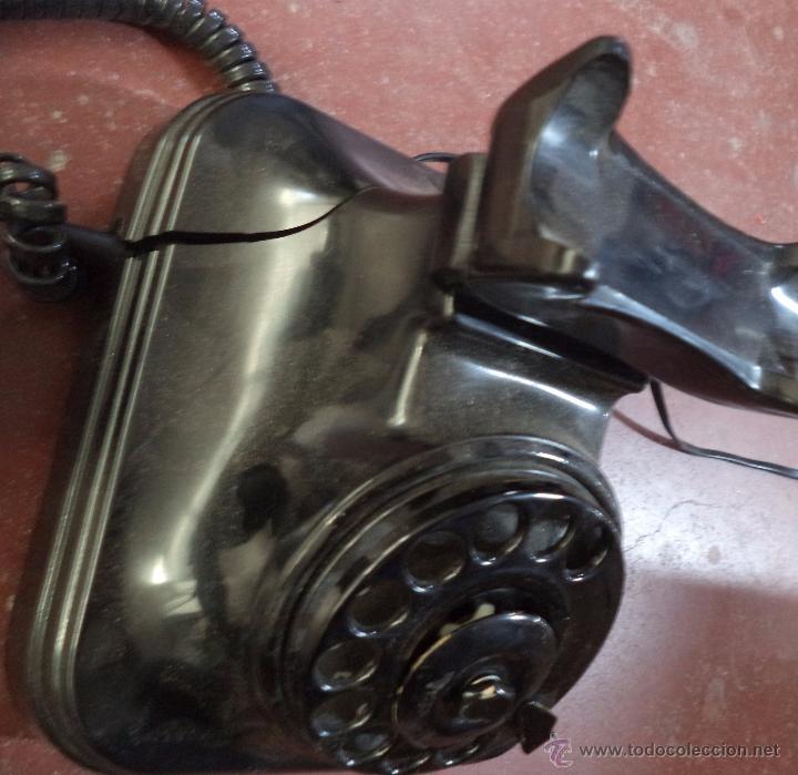 Teléfonos: Teléfono Antiguo de Sobremesa,Baquelita,original,desconocemos si funciona - Foto 3 - 71141826