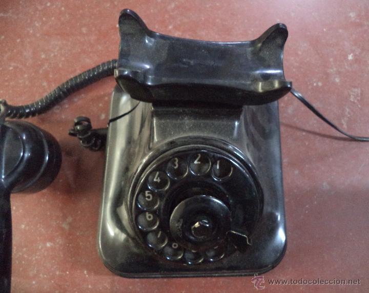 Teléfonos: Teléfono Antiguo de Sobremesa,Baquelita,original,desconocemos si funciona - Foto 4 - 71141826