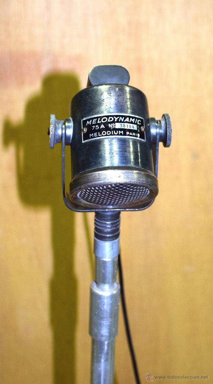 Microfono Pie Decoracion Prensa Vintage Marca M Comprar Varias
