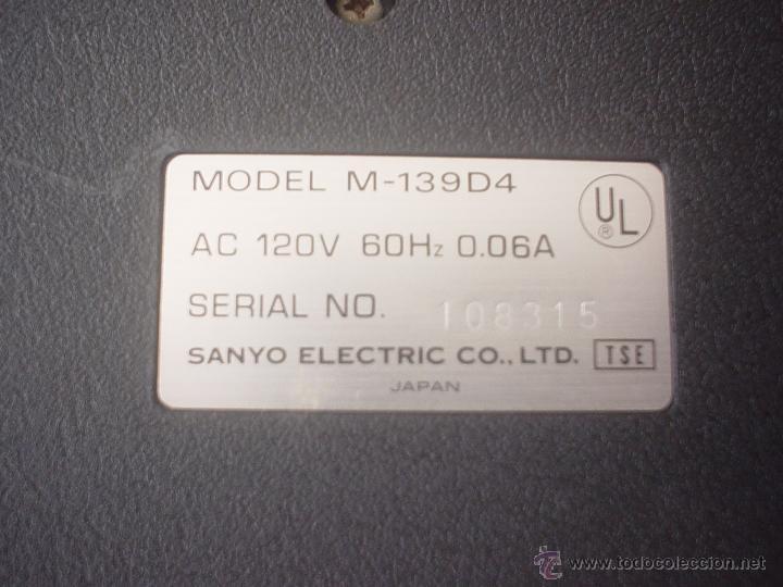 Teléfonos: CONTESTADOR AUTOMÁTICO SANYO M-139D4 - Foto 8 - 50497610