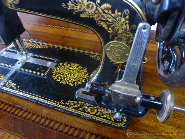 Antigüedades: Antigua máquina de coser Köhler - Foto 2 - 50520578