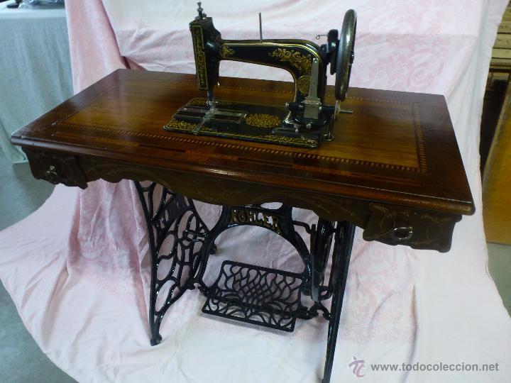 Antigüedades: Antigua máquina de coser Köhler - Foto 8 - 50520578