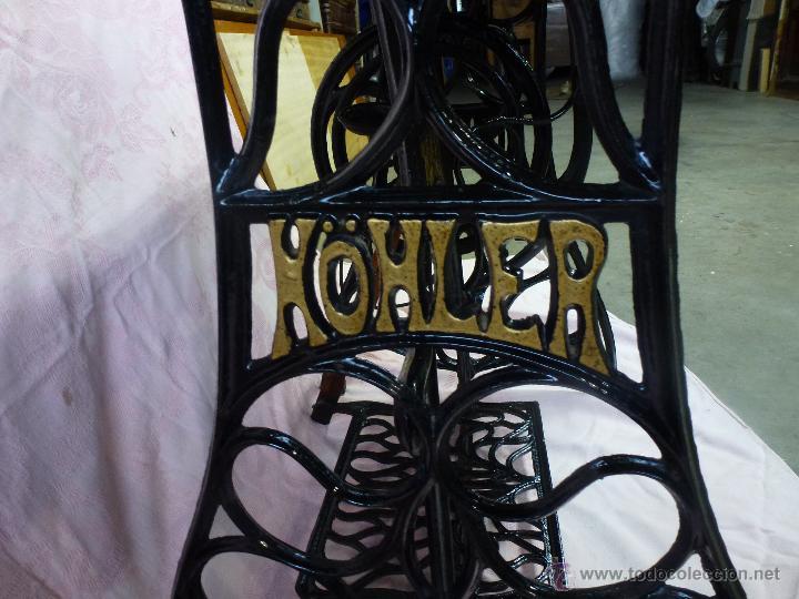 Antigüedades: Antigua máquina de coser Köhler - Foto 9 - 50520578