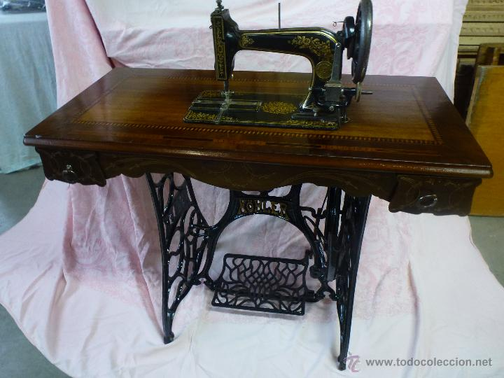 Antigüedades: Antigua máquina de coser Köhler - Foto 10 - 50520578
