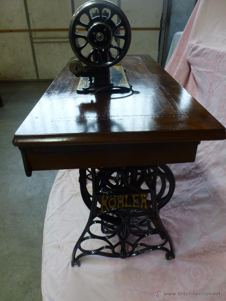 Antigüedades: Antigua máquina de coser Köhler - Foto 12 - 50520578