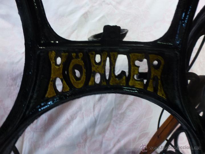 Antigüedades: Antigua máquina de coser Köhler - Foto 13 - 50520578